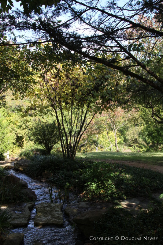 Stream Passing Across Path on Glen Abbey Home Property