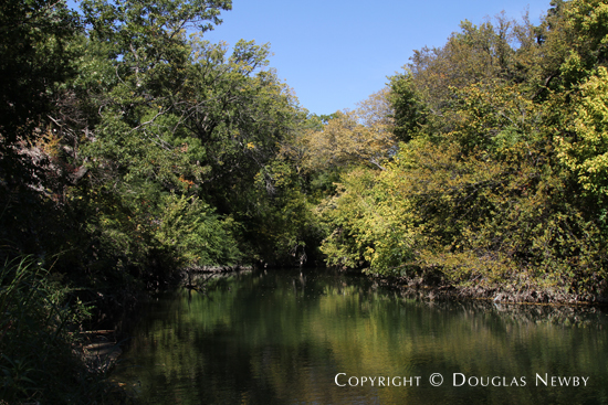 White Rock Creek Runs Between Glen Abbey Contemporary Home and Nature Preserve