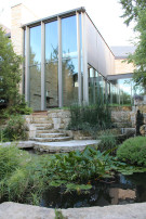 Koi Pond at Glen Abbey Modern Home