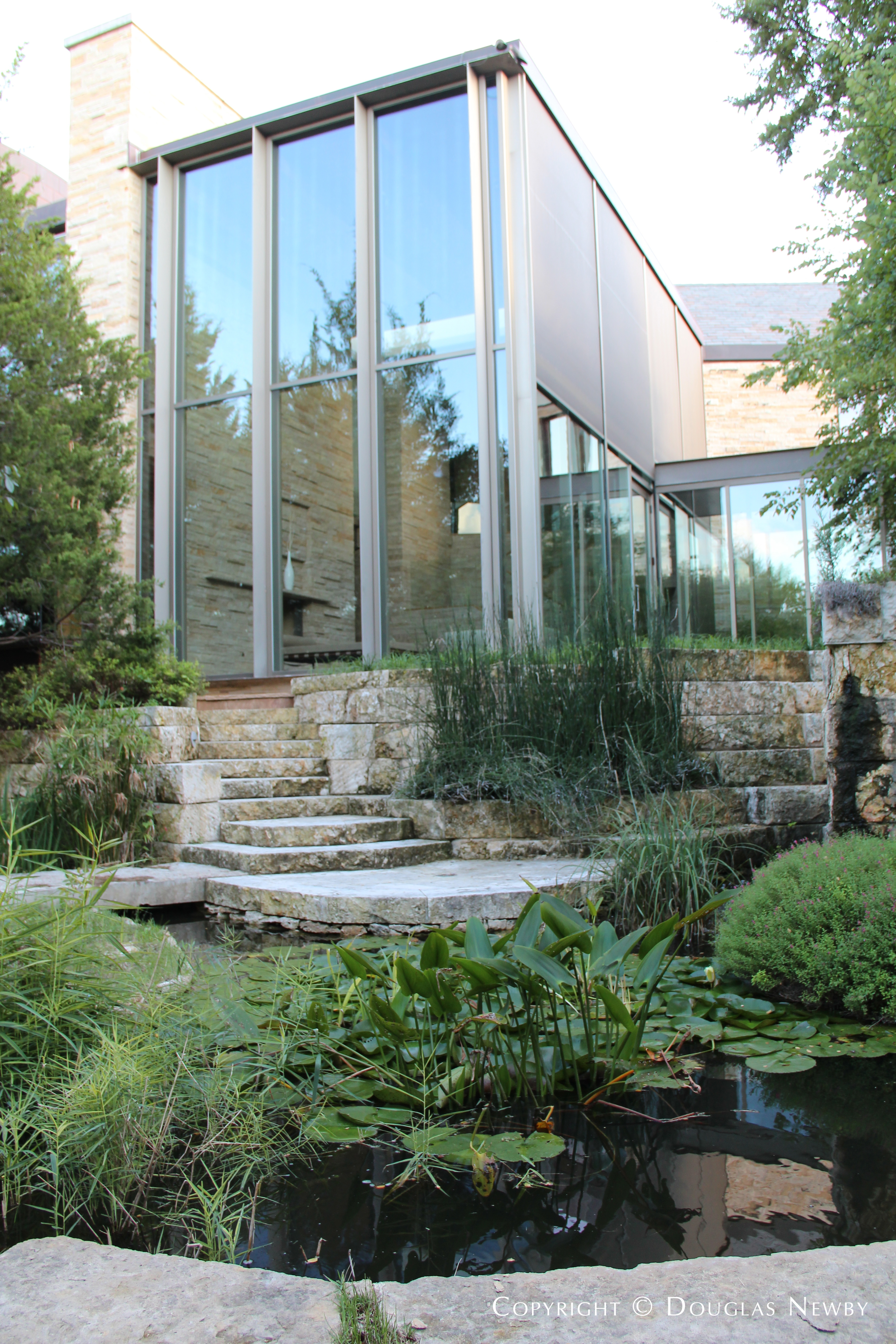 Koi Pond at Glen Abbey Modern Home
