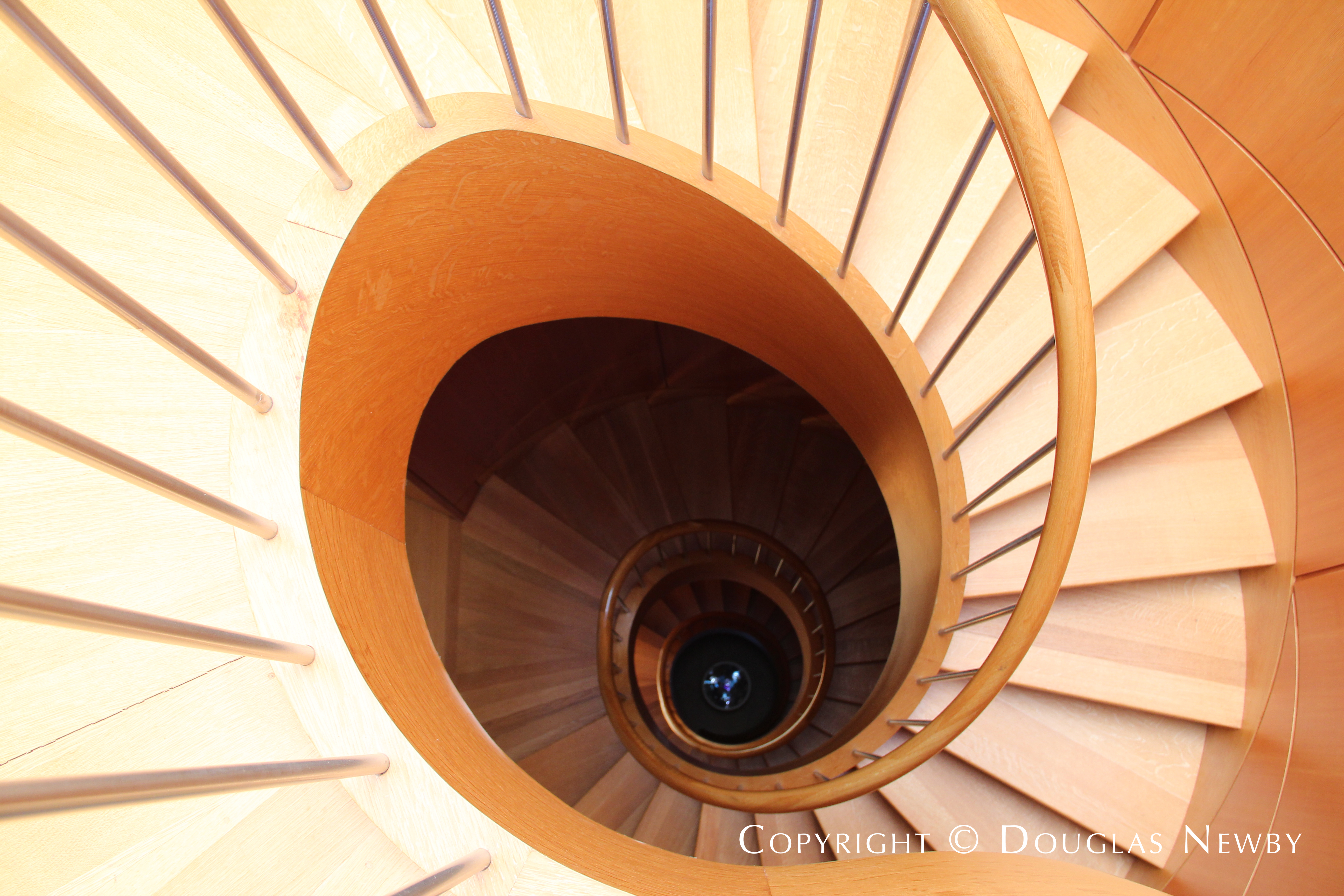Circular Stairs Wind Their Way Up to Glen Abbey Estate Home Observation Deck