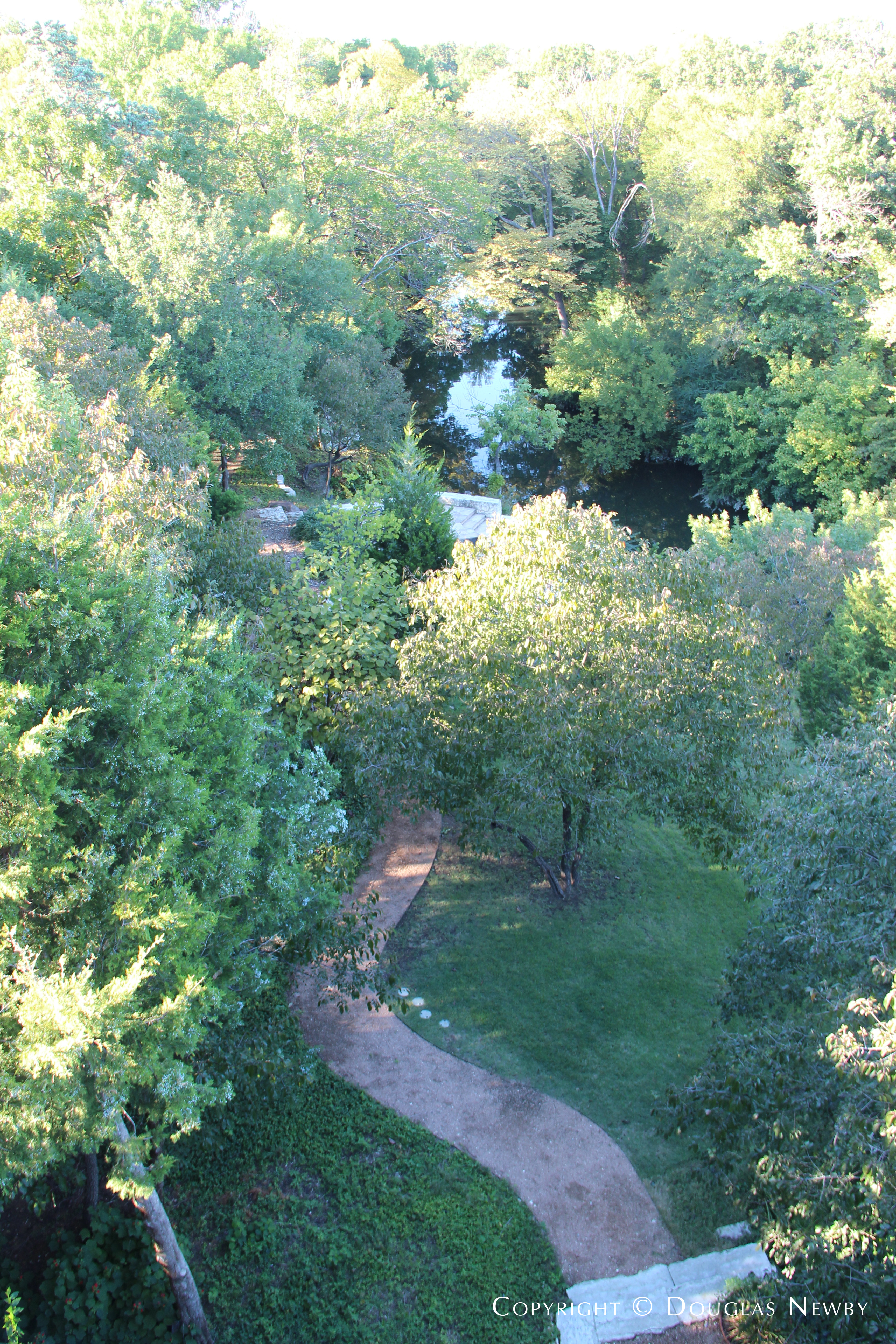 View From Glen Abbey Home Balcony Terrace of One of the Paths to White Rock Creek