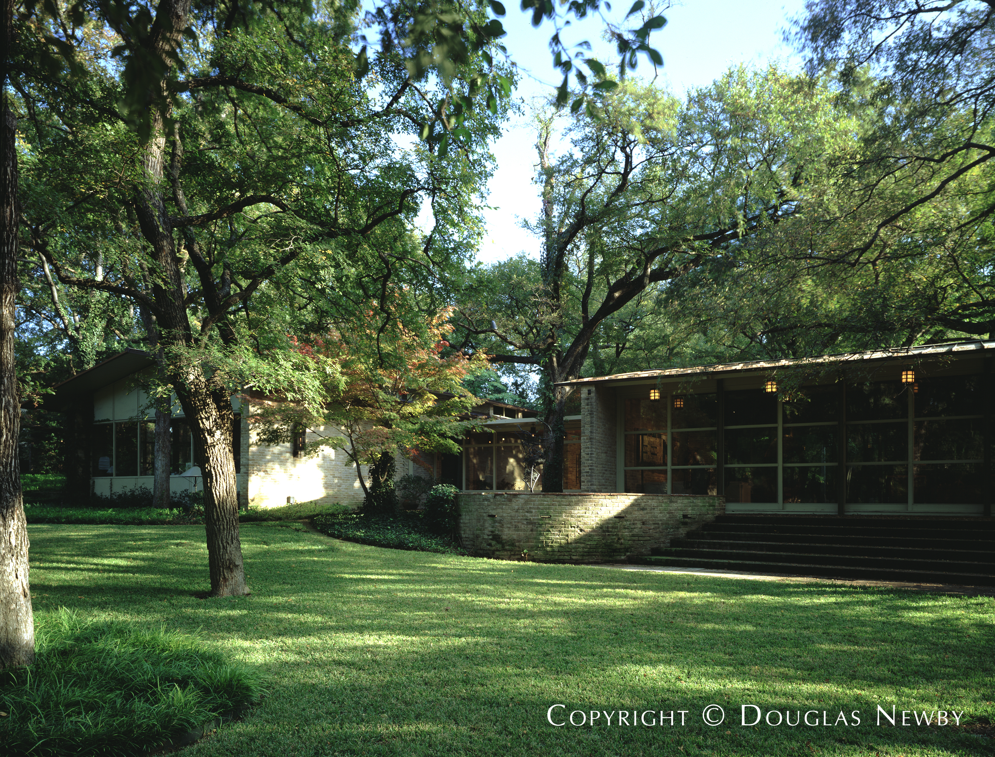 O'Neil Ford Mid-Century Modern Home built in the 1950s