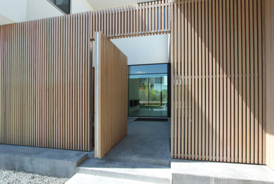 Gate on Contemporary Home in Preston Hollow Designed by Jason Smith, AIA and Signe Smith