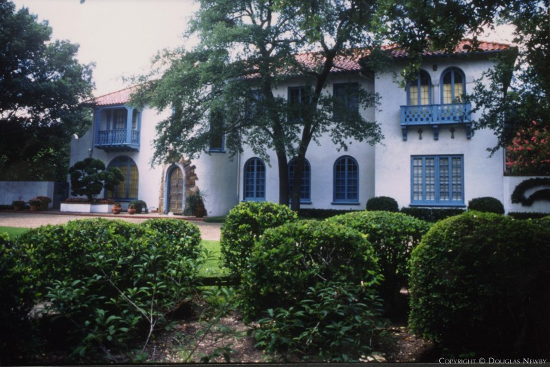 Second Section of Highland Park West of Preston Spanish Colonial Revival Home