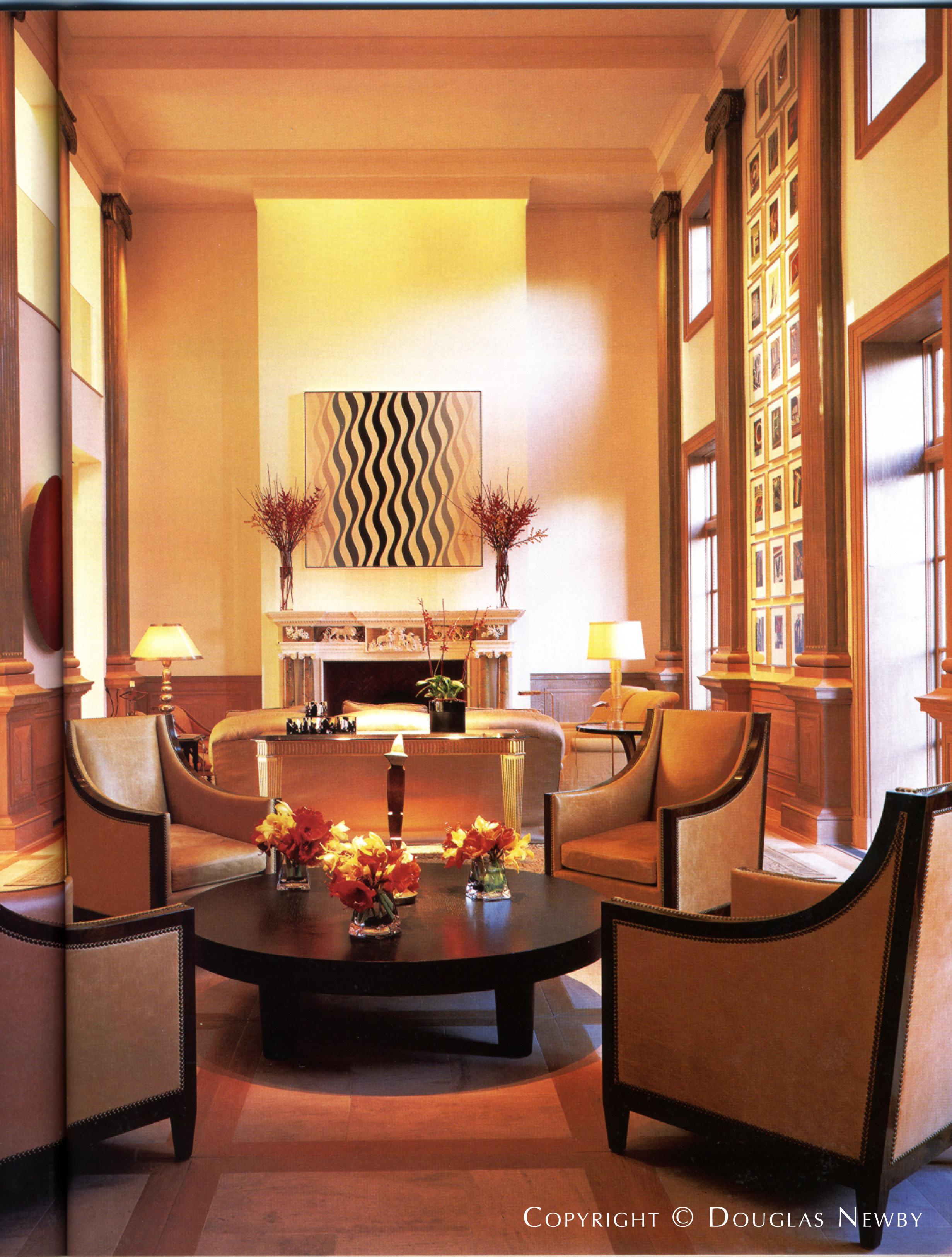 Interior Designed by Paul Draper in Architect James Langford Designed Home