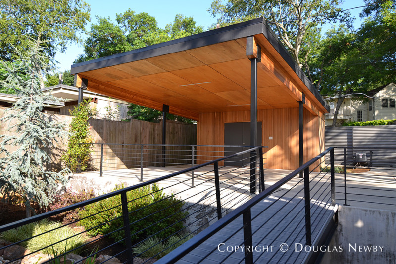 Even Carport Makes Architectural Statement At End Of