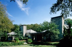 Architect David George Designed Texas Modern Home in Bluffview Area