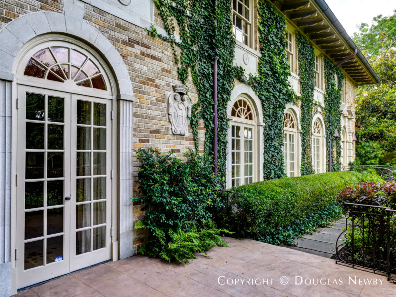Palladian Arches and Double French Doors are Spaced Across Front of Anton Korn-Designed Home · « & Palladian Arches and Double French Doors are Spaced Across Front of ...