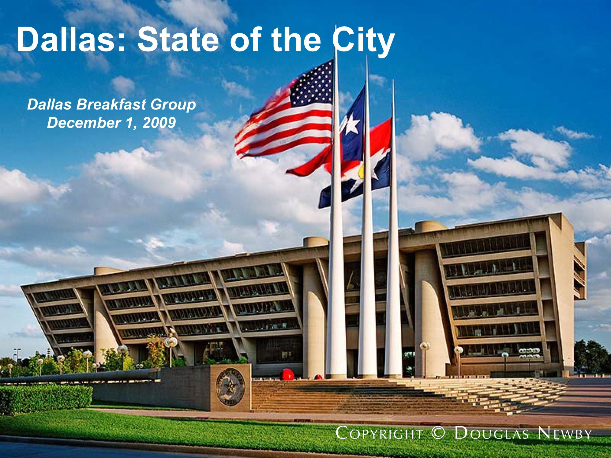 City Manager, Mary Suhm, Addresses Dallas Breakfast Group
