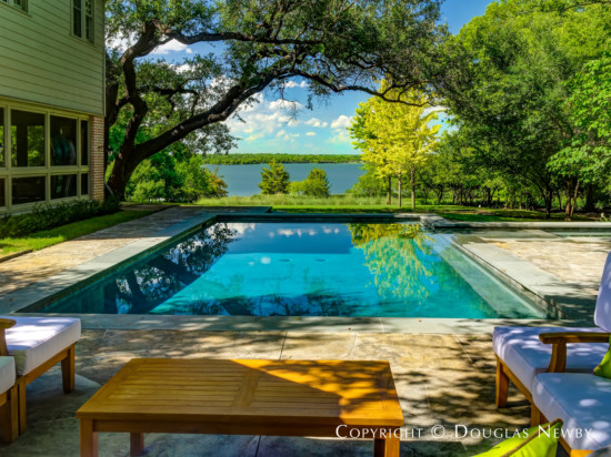 Swimming Pool With View of White Rock Lake